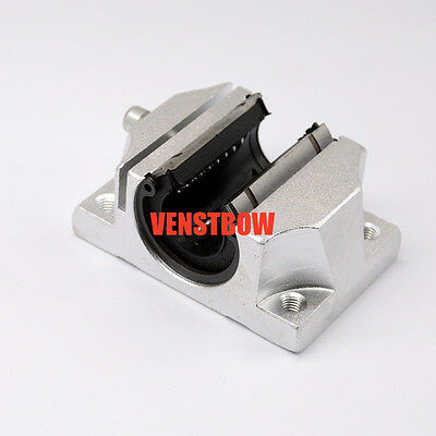 2 pcs of TBR20UU 20mm Metal linear bearing Support Units Solide block CNC Router