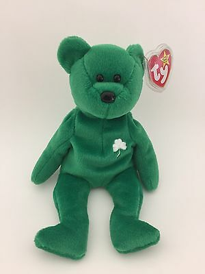 TY Beanie Baby (Erin) the Bear 1997 Retired Errors