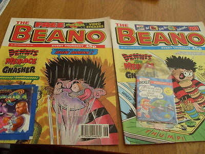 The Beano Comic Issue's No 2883 /2887 Both With Gifts 1997