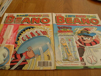 The Beano Comic Issue's No 2848 /2850 Both With Gifts  1997