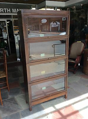 Vintage Globe Wernicke Stacking Barrister 5 Section ( Only 4 Showing) Bookcase
