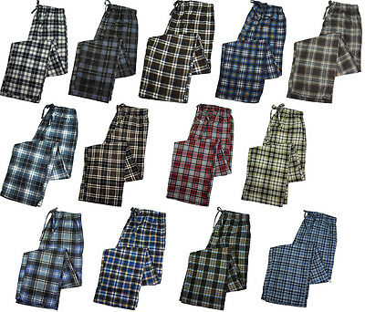 Men's 100% Cotton Value Flannel Lounge Sleep Pants Pajamas Sleepwear PJ