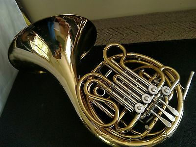 Holton H-378 Double French Horn with F.E.Olds Hard Case and Holton Farkas MPC