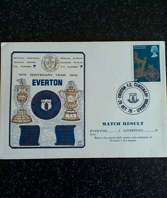 Everton 1 Liverpool 0 1978 Centenary first day cover