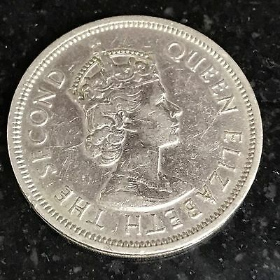 1960 Queen Elizabeth The Second Coin Hong Kong ONE DOLLAR