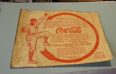 Coca-Cola Hugh Jennings Detroit Tigers Baseball Player Cardboard Sign 8x11