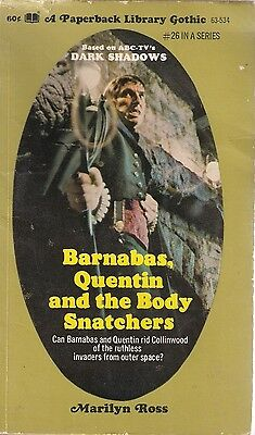 Barnabas, Quentin And The Body Snatchers, Marilyn Ross, TV Tie In, Dark Shadows