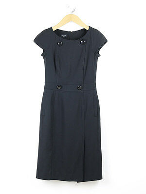 Hobbs Womens Black Button Detail Tailored Dress Size 8