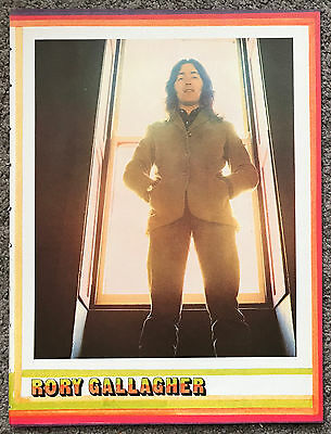 RORY GALLAGHER - 1973 full page UK magazine poster
