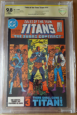 Tales of The Teen Titans #44 Signed By George Perez CBCS 9.8 1st Nightwing! 1984