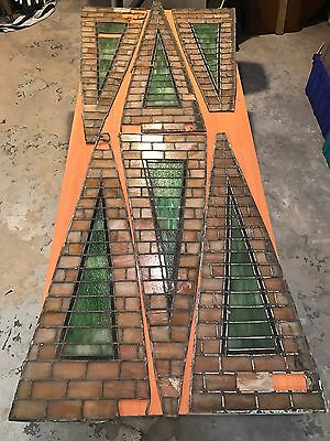 Antique Stained Glass Panels Arts And Crafts Mission Stickley