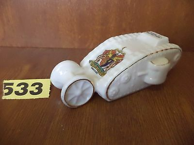 Vintage Willow Art Ware - WWI Crested China - British Tank / Chester