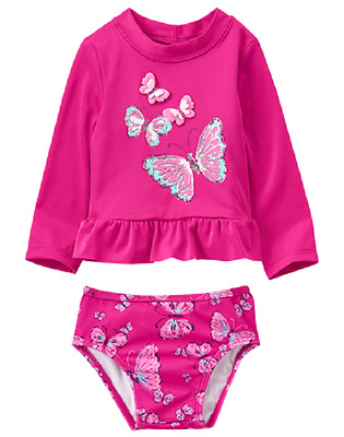 7907145a31831a Clothing, Shoes & Jewelry Mud Pie Baby Girls Floral Flamingo Two Piece Rash  Guard Swimwear 1122140