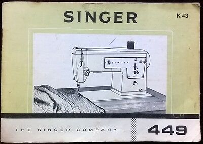 Vintage 1960s Singer Sewing Machine Manual Model K43 The Singer Company 1967