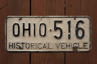 Vintage Ohio Car License Plate HISTORICAL VEHICLE
