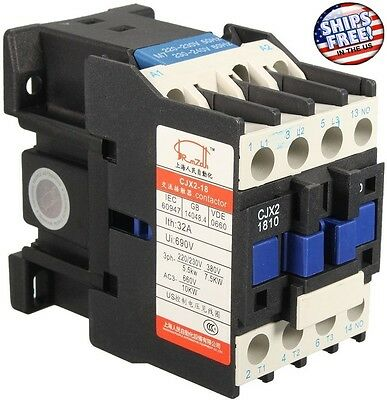 AC Contactor AC220V Coil32A 3-Phase 1NO 50/60Hz Motor Starter Relay LC1 D1810 US