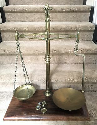 Antique W & T Avery Agate Brass Balance Beam Scales 61848 Large
