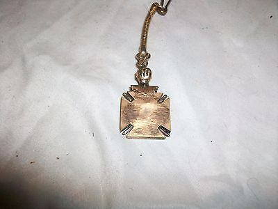 Vintage Metal Gold Tone Knight  Helmet Knights of Columbus Keychain