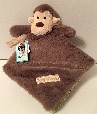 Jellycat Soft Cloth Book Sleepy Monkey 6 inches Brown Baby Toy New