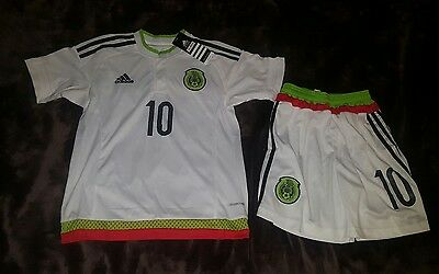 Mexico soccer jersey away white for kids 6/8 YEARS OLD Giovani dos santos #10