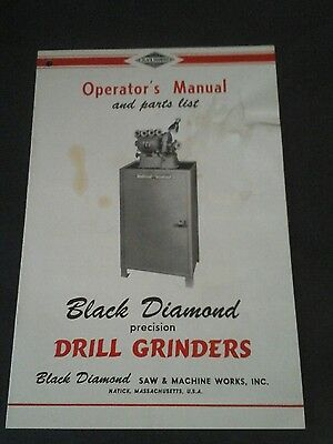 Vintage Black Diamond operator's manual/parts list, Original