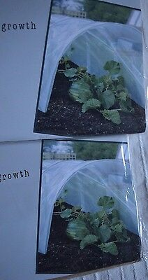 2 x 1.5m Grow Tunnel 3m poythene mini greenhouse plant protector tunnels pack
