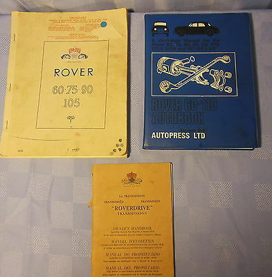 Rover 60-75-90-105 Owners Manual, Roverdrive Transmission, 53-64 Workshop Book