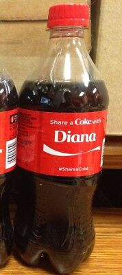 RARE 2014 Summer Share a Coke with DIANA Personalized Collectible Coke Bottle
