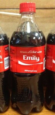 RARE 2014 Summer Share a Coke with EMILY Personalized Collectible Coke Bottle