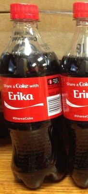 RARE 2014 Summer Share a Coke with ERIKA Personalized Collectible Coke Bottle