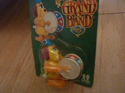 tomy not so grand band wind up vintage toy carded from new 1980 bass drum player