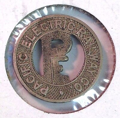 Pacific Electric Railways, Greater LA California, vintage One Fare Transit Token