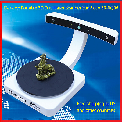 3D Desktop Dual Laser Scanner Portable with Turnplate Su-Scan BR-XQ96