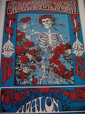 Grateful Dead Gig Promo Poster Skeleton & Roses Taken from Music Book to frame?