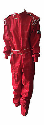 Red SFI 3.2A/1 Approved, Single Layer Race Suit, Size XXL