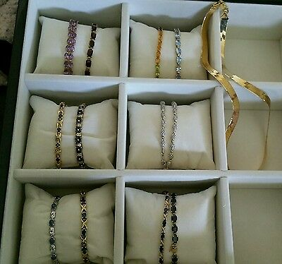 lot solid gold rings and bracelets and necklaces