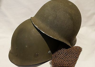 WW2 US M1 Helmet Shell with MSA Liner Enger-Kress Strapping & Net Cover