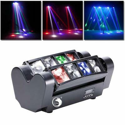 80W 8 LED DJ Spider Moving Head Stage Lighting RGBW Beam DMX Party Show Light