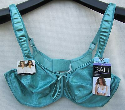 b2acd6c95c9 BALI 3562 Rosewood Satin Tracings Minimizer 36C 42D Padded Straps Free SHIP  NWT