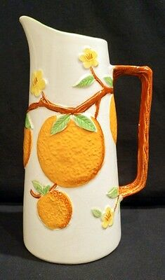 Vintage 1950's Napcoware Ceramic Orange Juice Pitcher C-6240 Made In Japan