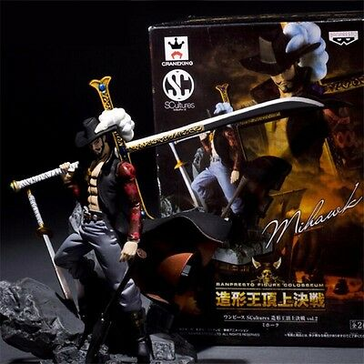 One Piece Scultures Championship Vol.2 Dracule Mihawk PVC Figure New In Box