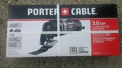 Porter Cable Oscillating Multi-Tool 3.0 Amp 11 Piece Kit New In Box PCE606K