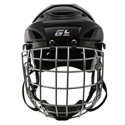 NEW ARRIVAL Black Ice Hockey Player Helmet Hockey Face Mask XS-XL Free Shipping