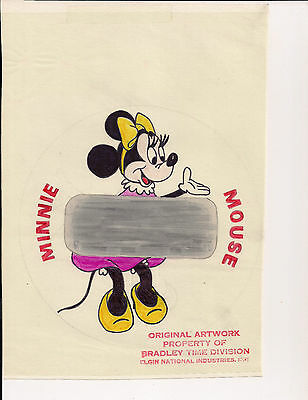 Disney's Minnie Mouse- Original One of a Kind Art Work  Bradley Time LCD Watch