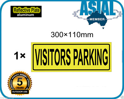 Visitors Parking Metal Aluminium Reflective Plate visitor parking Sign 300x110mm