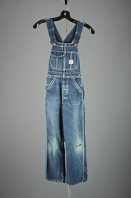 Vtg Boys 40s 50s JC Penneys Big Mac Cotton Denim Overalls sz 23x22 Jeans #2939