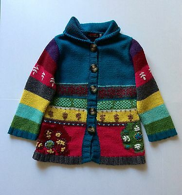 Catimini Kids wooden jumpers Children's girl Sweater cardigan size 3