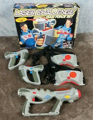 Laser Challenge Team Force Set Toy Max Laser Tag Vtg Tested With Extra (1996)
