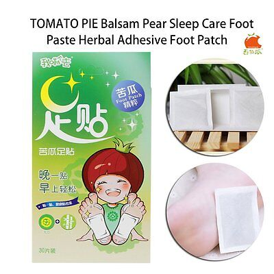 TOMATO PIE Balsam Pear Sleep Care Foot Paste Herbal Adhesive Foot Patch UK