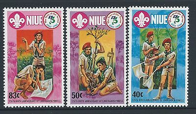 1983 NIUE SCOUTING 75th ANNIVERSARY SET OF 3 FINE MINT MUH/MNH